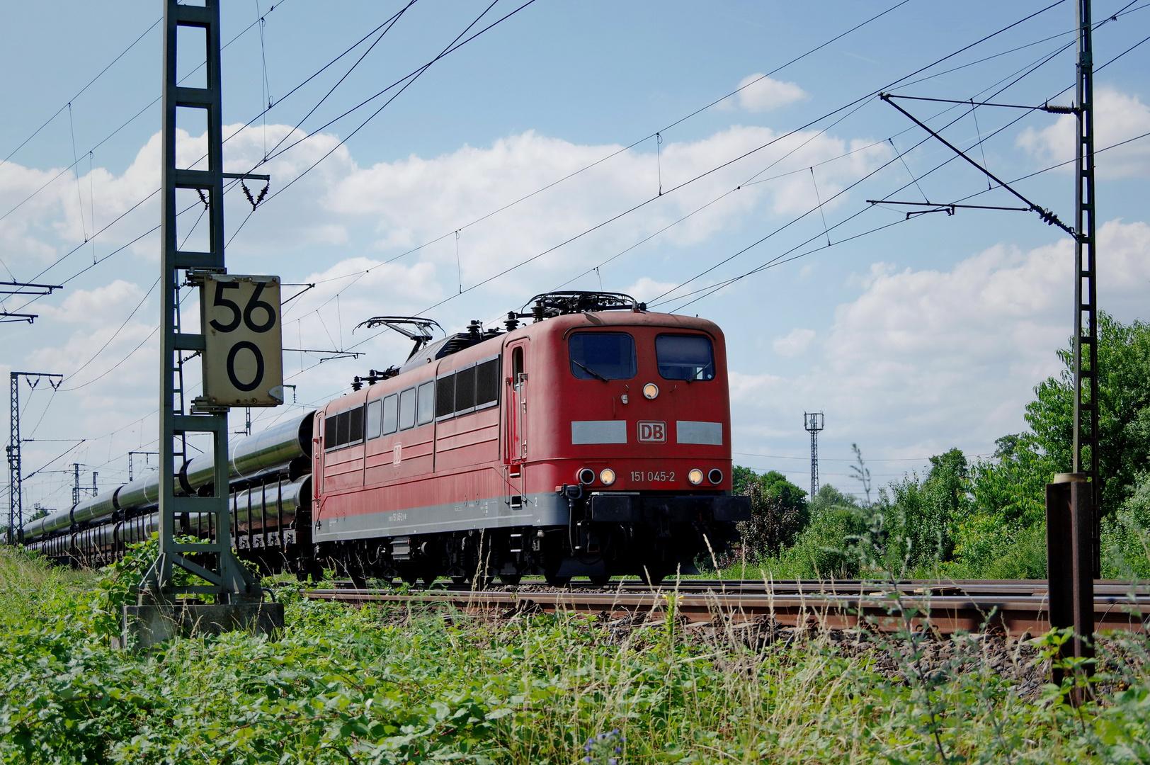 BR 151 045-2 DB - Ganzzug (Röhren)