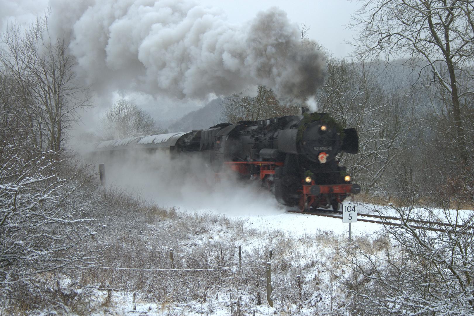 BR 52 im Schnee