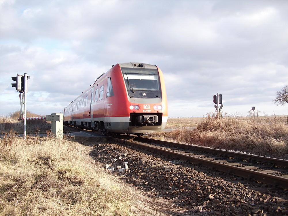 BR 612 mit fehlender Kontrollnummer nahe Wegeleben