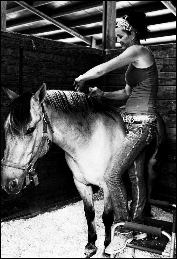 braiding the Horses Mane