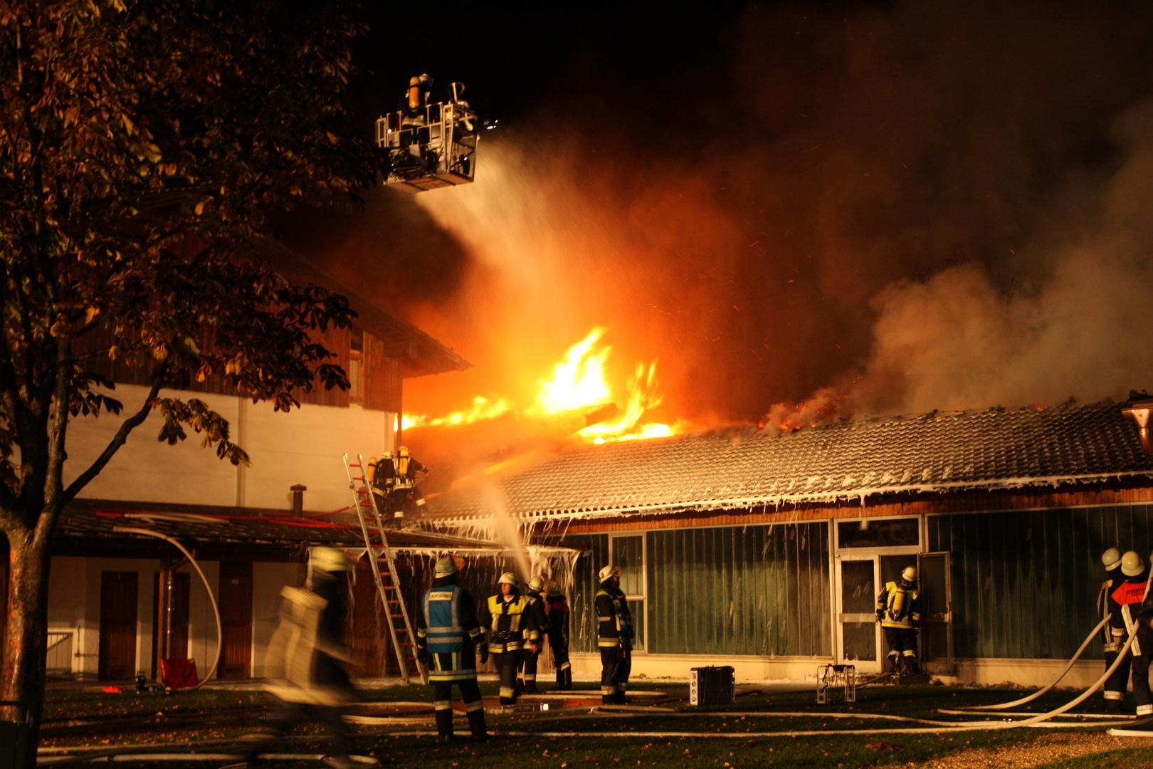 Brand einer Schule 1