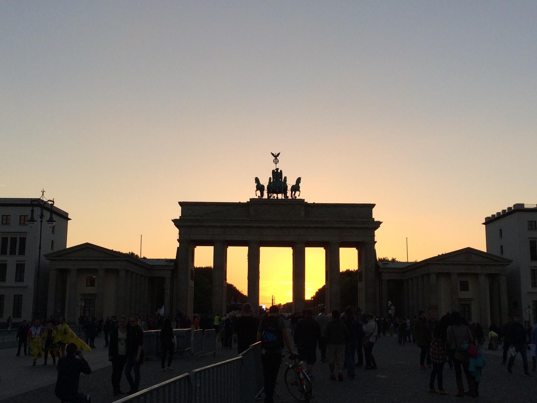 Brandenburger Tor in Flammen