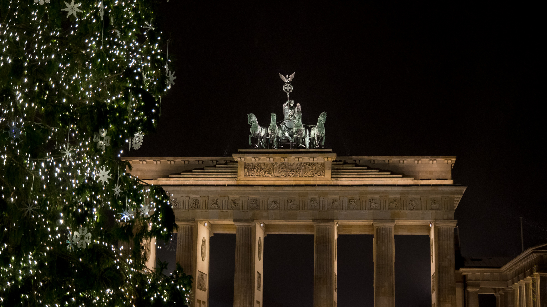 Weihnachtskarten Berlin.Brandenburger Tor Weihnachtlich Foto Bild Karten Und Kalender