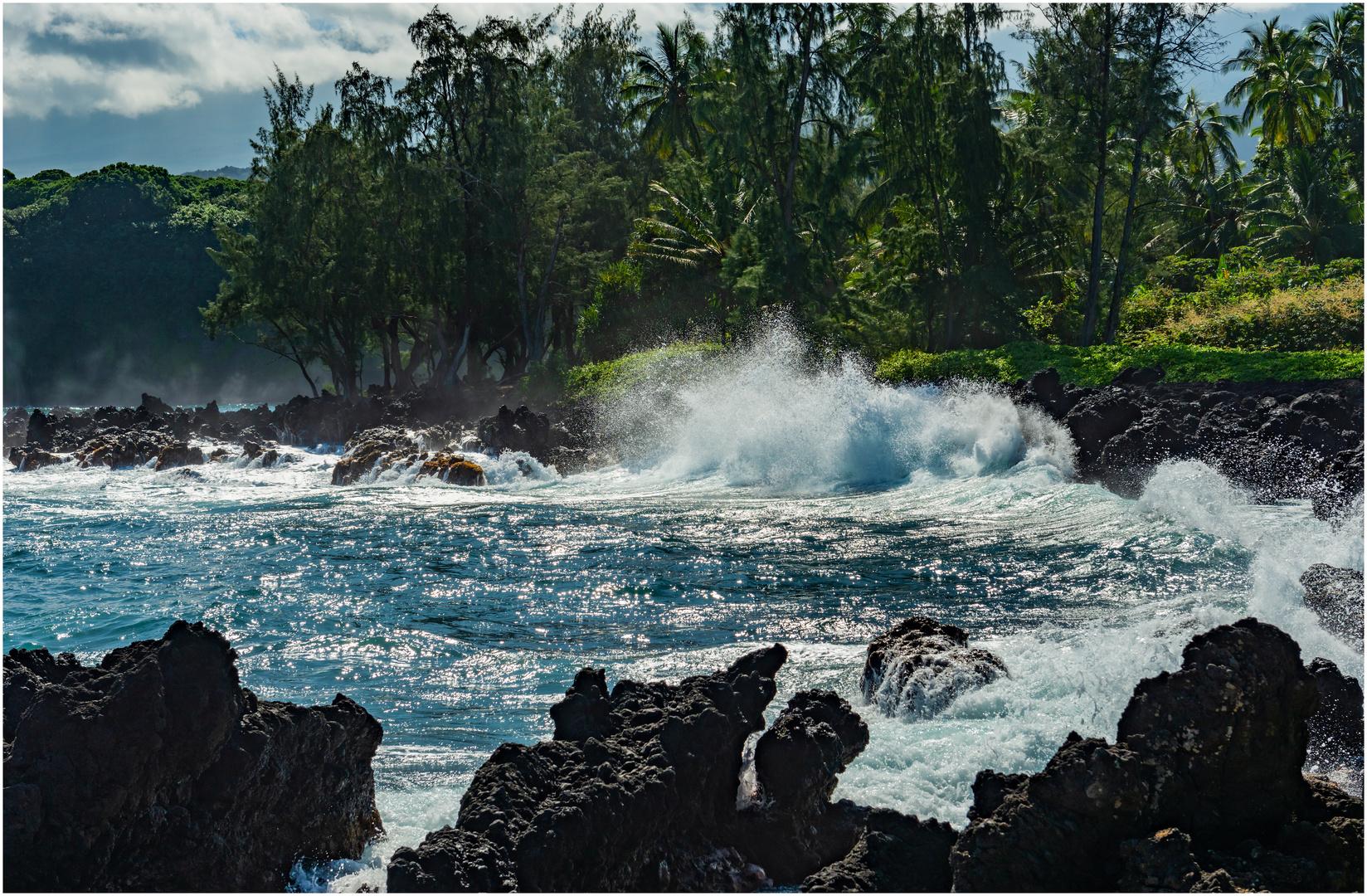 Brandung Hana Maui Hawaii