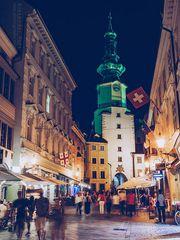 Bratislava - Michaelertor bei Nacht