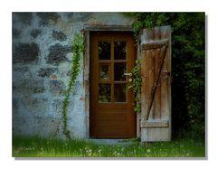 Braune Tür