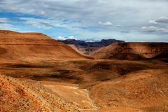 Braunes Land im Atlasgebirge