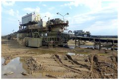 Braunkohlentagebau Garzweiler - Transportanlage für Abraum und Kohle