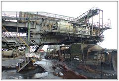 Braunkohlentagebau Garzweiler - Transportanlagen auf der Sohle der Grube 2