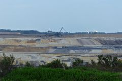 Braunkohlentagebau Inden - Anlage mit  Bagger