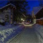 Braunlage in einer kalten Winternacht