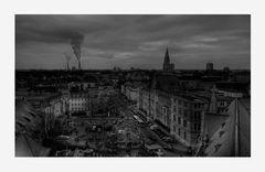 """Braunschweig-City """" Blick vom Rathausturm, auf die Dächer von Braunschweig """""""