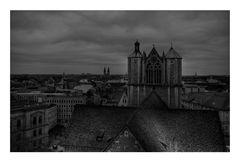 """Braunschweig - City """" Dom St. Blasius, und die Dächer von Brunswick, vom Rathaus aus gesehen... """""""
