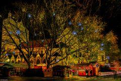 Braunschweiger Dom mit Weihnachtsmarkt