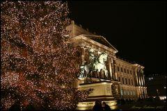 Braunschweiger Schloss hinter Weihnachtsbaum