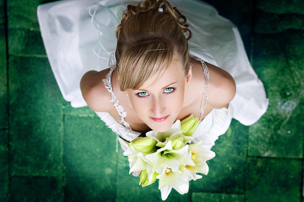 Braut von oben - mal ein wenig anders - green