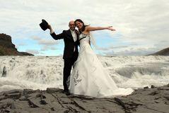 Brautpaar in Island