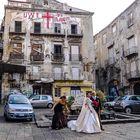 Brautpaar vor spezieller Kulisse