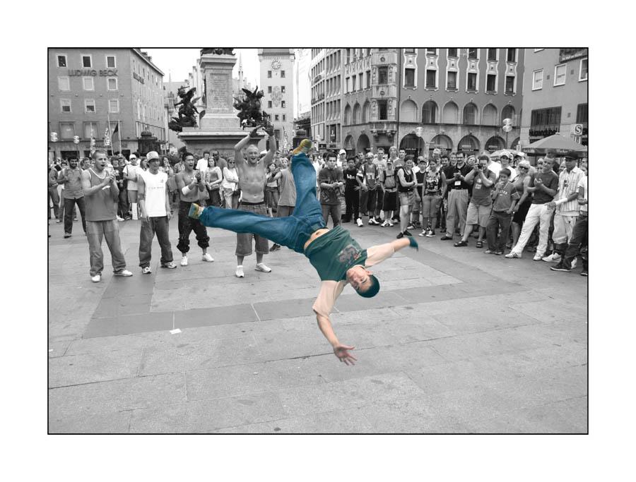 Breakdance auf dem Marienplatz