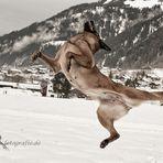 Breakdance im Schnee....