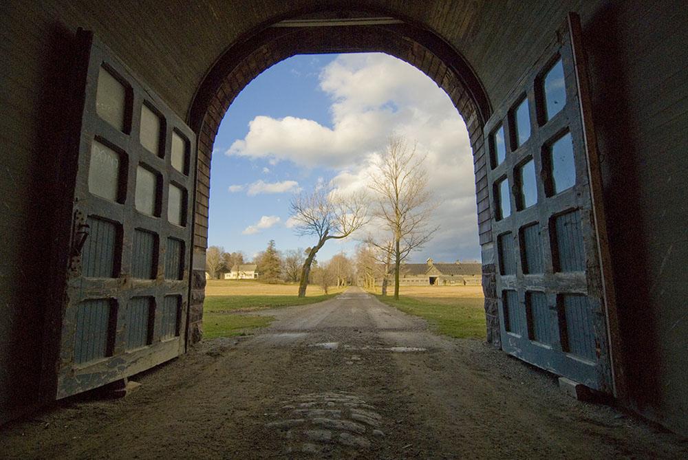 Breeding Barn Gate (in Winter) - Shelburne Farms, Vermont
