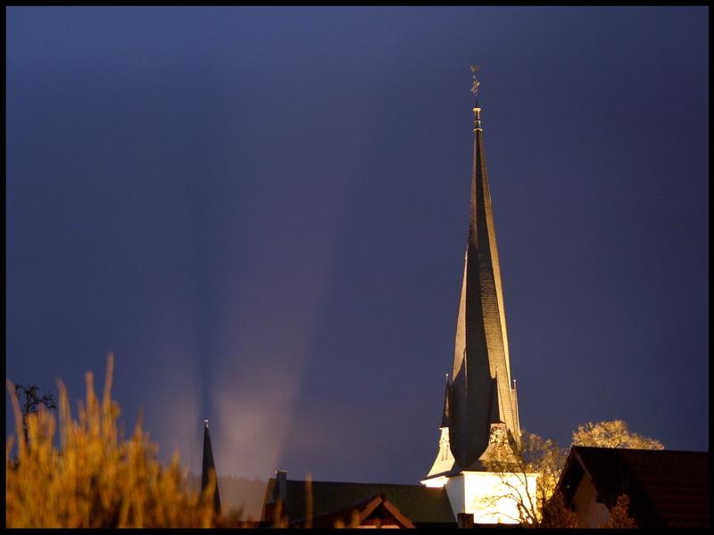 Breidenbacher Kirche bei Nacht