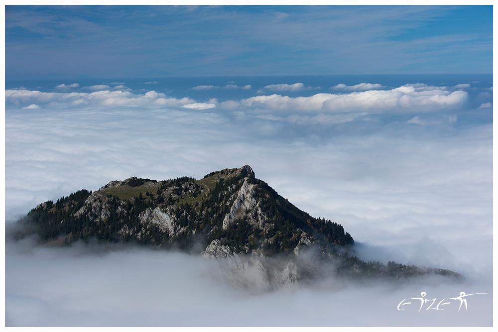 Breitenstein in Wolken