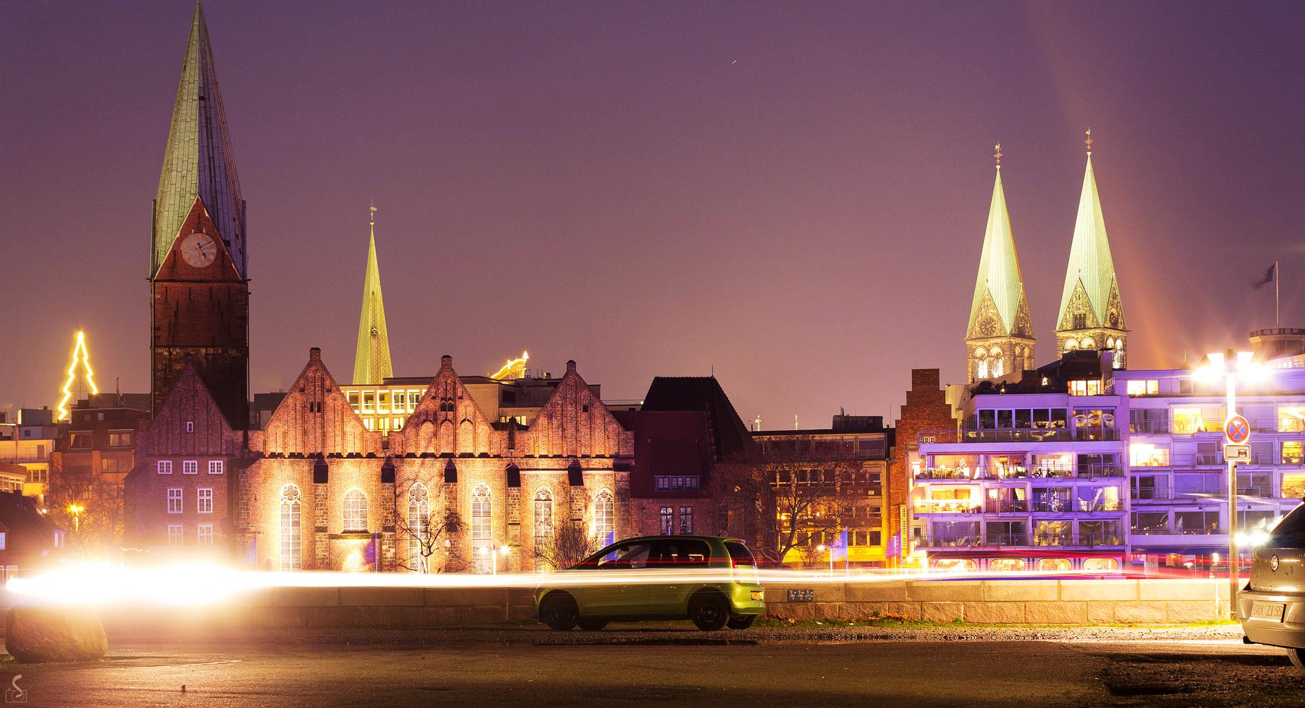 Bremen by night | Teerhof Parkplatz Schlachtezauber