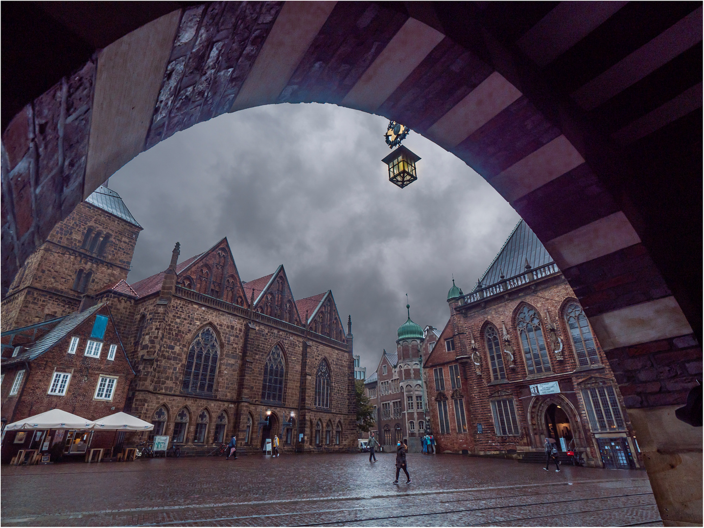 Bremen im Regen 4....