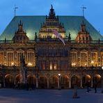 Bremer Rathaus zur Blauen Stunde
