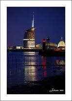 Bremerhaven bei Nacht