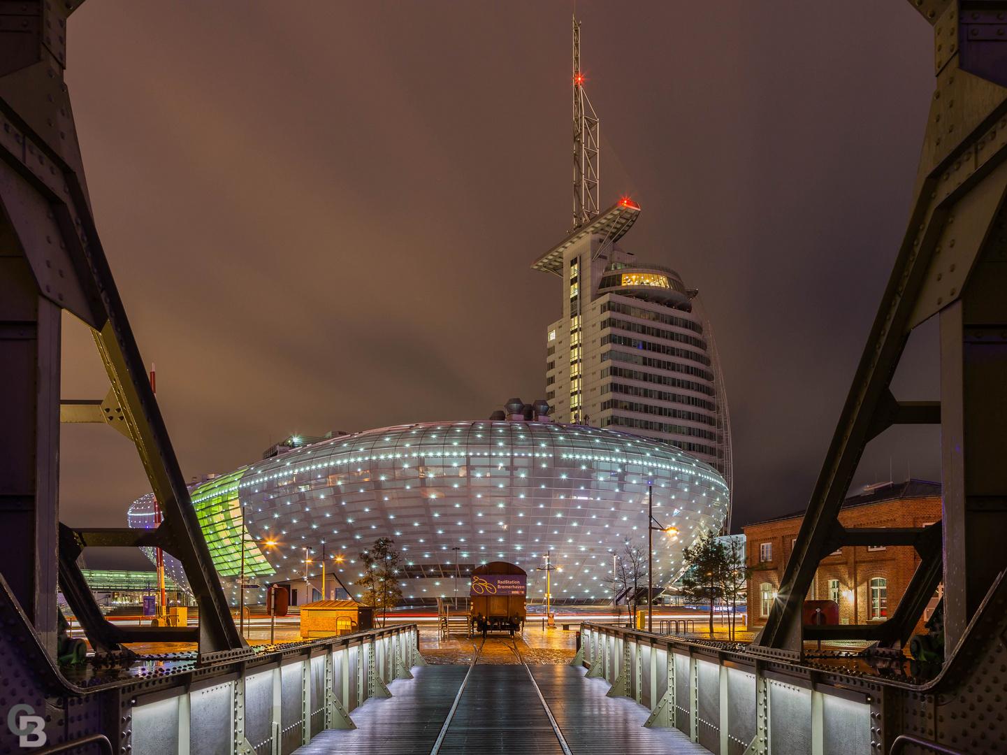 Bremerhaven bei Nacht die 2.