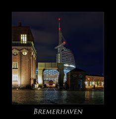 """Bremerhaven """" Hafenwelten bei Nacht******..."""""""