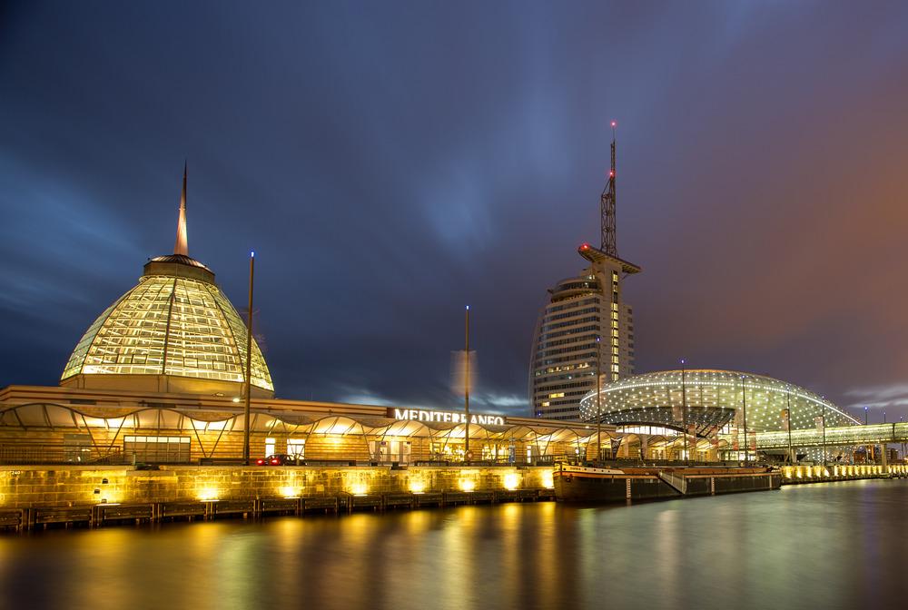 Bremerhaven havenwelten foto bild architektur architektur bei nacht homepage bilder auf - Architektur bremerhaven ...