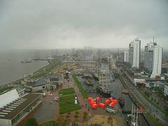 Bremerhaven im Regen