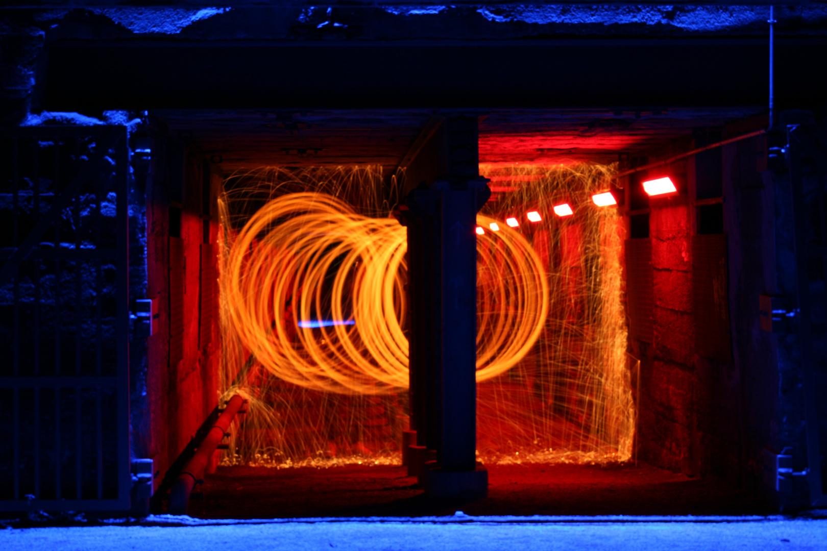 Brennen der Tunnel Im LAPIDÜ