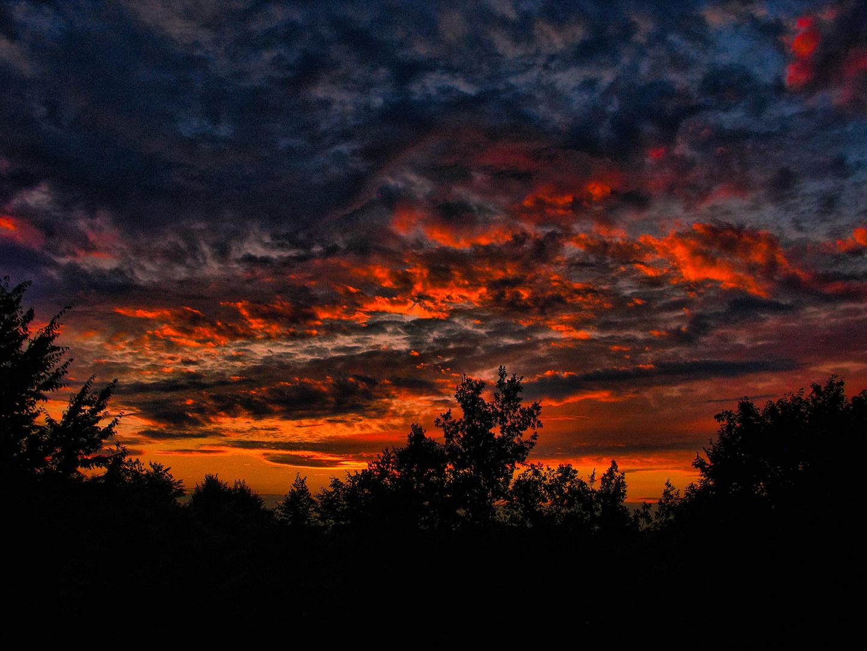 brennenden Himmel