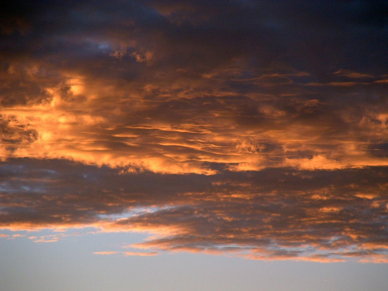 brennender Himmel, Sonnenuntergang Winter