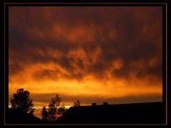 Brennender Himmel über Raschau