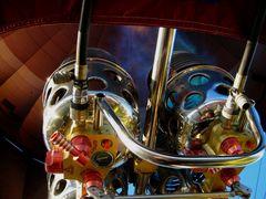 Brenner im Heißluftballon in Aktion