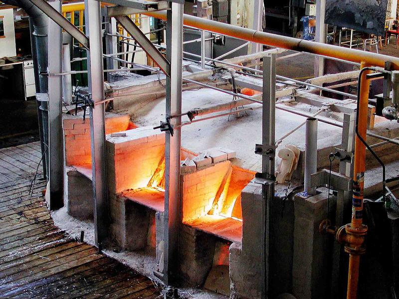 Brennofen in der Glashütte NOVOSAD + SOHN in Harrachov / Harrachsdorf-Tschechien