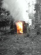 Brennt Hütte