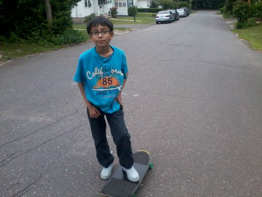 Brian Skateboarding by Peter Coukis