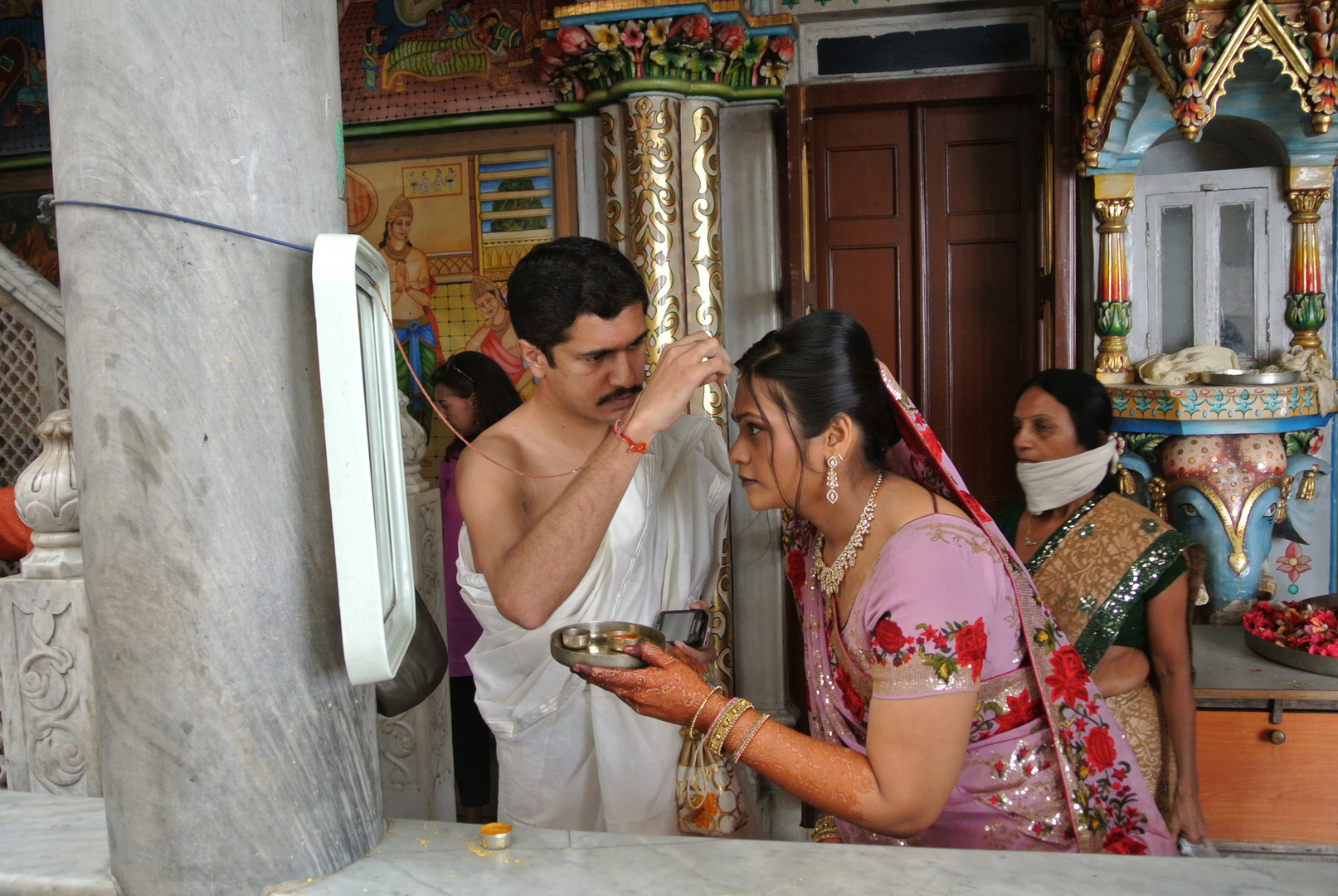 Bride and Groom at Jain Temple