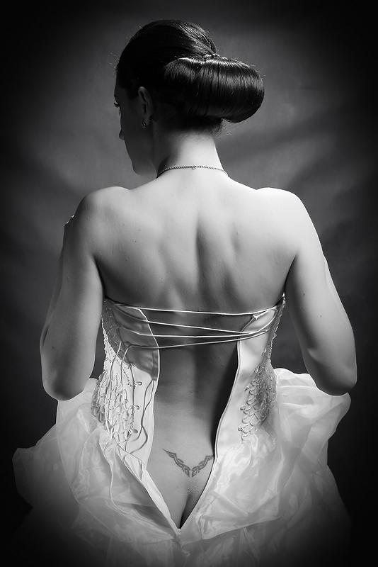 Bride in pure form