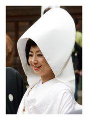 Brides wear traditional kimono