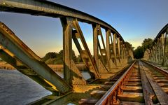 bridge in the evening sun