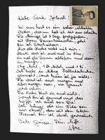 Brief an Tante Jolesch.