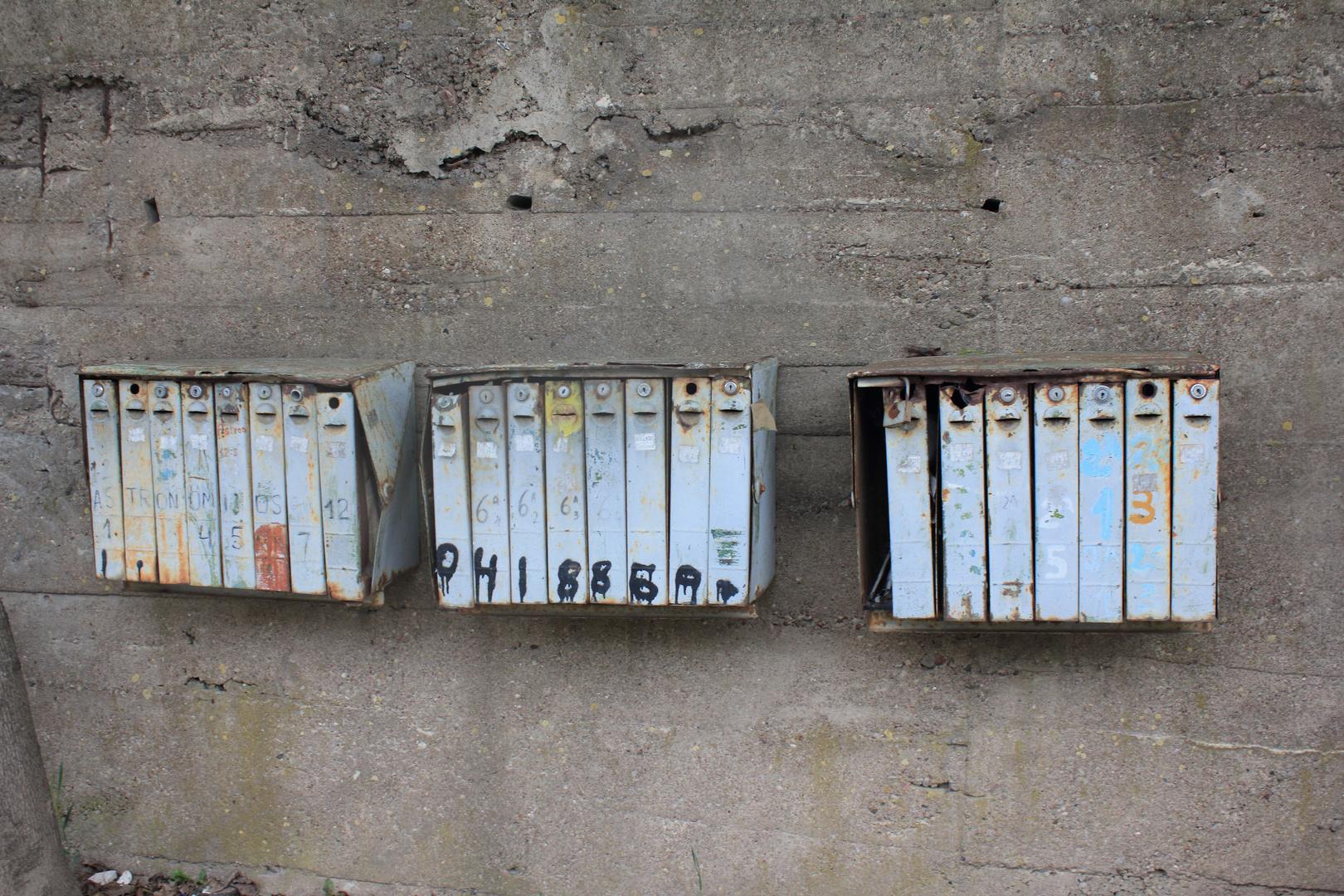 Briefkästen in Litauern