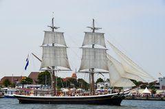 """Brigg """"Morgenster"""" zur Hanse Sail 2013 in Rostock vor Warnemünde"""